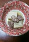 高野豆腐と牛ステーキ肉の含め煮