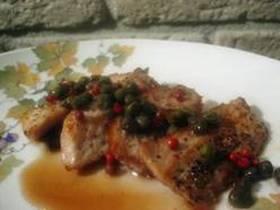 シチリアの簡単料理 ケッパーの豚肉焼き