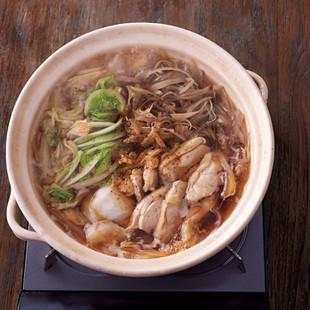 鶏とひらひらごぼうの濃厚だしつゆ鍋