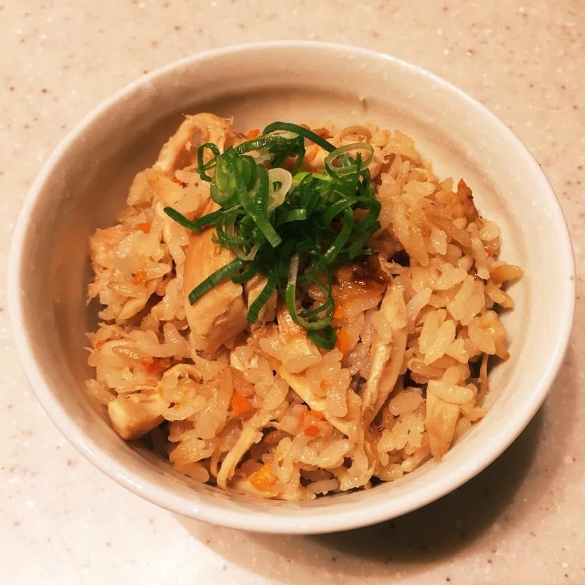 コストコロティサリーチキンのアレンジレシピ「炊き込みご飯」