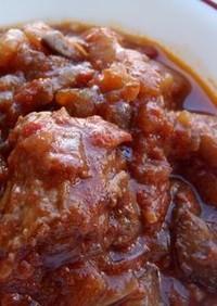 角切り牛肉のトマトと赤ワイン煮込み