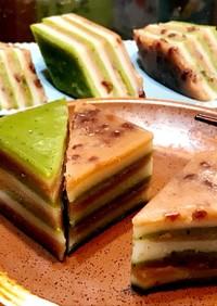 中華蒸し菓子◉正月や雛祭り抹茶小豆九層餅