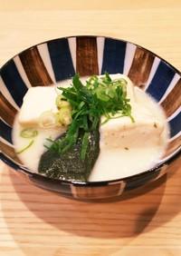 簡単!とろける湯豆腐♡