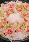 豚薔薇白菜のミルフィーユ鍋、みぞれ無水鍋