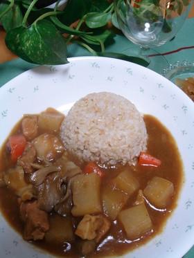 野菜ゴロゴロカレー☆豚肉&根菜