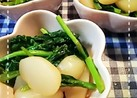 簡単!小松菜とこんにゃくのめんつゆ炒め