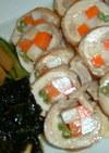 鶏肉の野菜巻き巻き煮