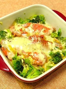 レンジで簡単!銀鮭のチーズ焼き