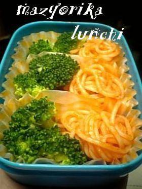お弁当赤緑おかず♪