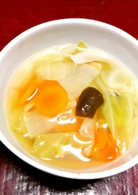 糖質オフ!白菜と椎茸のコンソメスープ