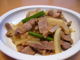 ラム肉と大根の炒め物♪