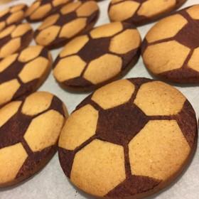 簡単!可愛い♡サッカーボールクッキー