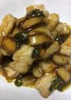 豚カツ肉の粒マスタード&醤油炒め☆