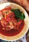 材料3個♪圧力鍋つゆだく手羽元のトマト煮
