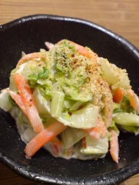 レンジで簡単1品☆白菜の白味噌マヨ和え