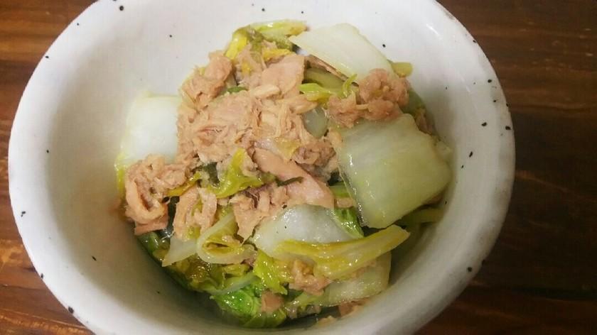 簡単!だし要らず!白菜とツナの炒め煮!