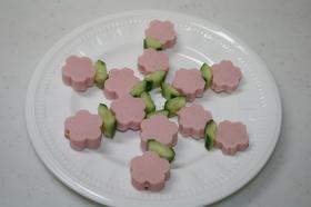 おさかなのソーセージでお花畑