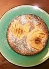 自家製天然酵母で作る、りんごケーキ♪