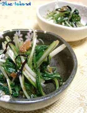 水菜と塩昆布と梅の*浅漬け*