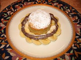 ラム酒風味のバナナケーキ