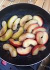 アウトドアフライパンで簡単焼きりんご