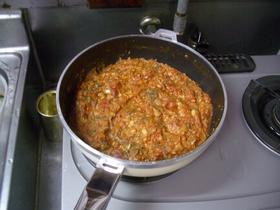 畑の肉(大豆)でミートソース