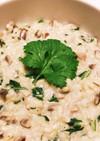 ココナッツミルクのパクチー玄米リゾット