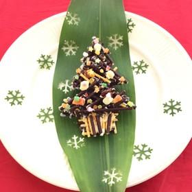 クリスマスパーティーに簡単ポッキーツリー
