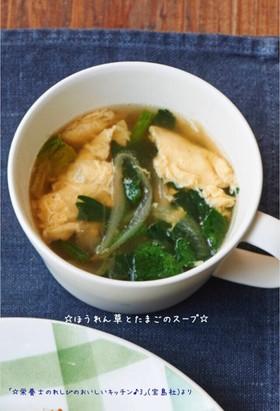 ☆ほうれん草とたまごのスープ☆
