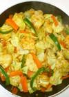 鶏むね肉と野菜のカレー炒め♪簡単