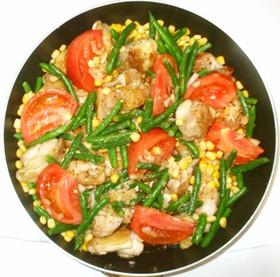 鶏もも肉のケチャップ酢炒め♪簡単