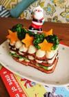 ミートローフやハムで☆クリスマスケーキ風