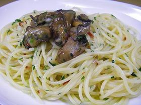 牡蠣のスモーク ペペロンチーノ