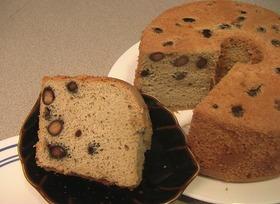 黒豆のシフォンケーキ