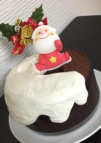 市販バームクーヘンで簡単クリスマスケーキ