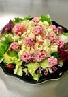 市販のサラダミックスで簡単お花のサラダ☆