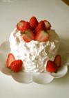 【4号サイズ】苺のデコレーションケーキ♪
