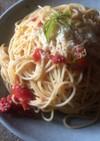 カゴメ基本のトマトソースでスパゲッティ