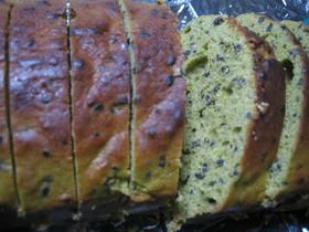 和み味♪抹茶と黒ゴマのパウンドケーキ