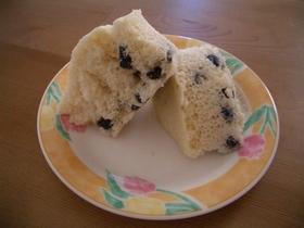レンジで簡単☆おせちの残りで黒豆蒸しパン