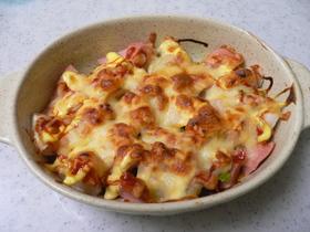 おさかなソーセージのケチャマヨチーズ焼き