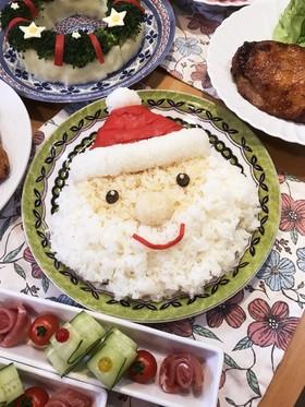 クリスマスに♡手巻き寿司にサンタ酢飯