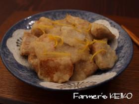 【農家のレシピ】揚げ里芋と鶏肉のみぞれ煮