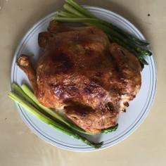 クリスマス!簡単チキンの丸焼き!皮パリ