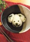 犬のおにぎりでお茶漬け【おちゃづ犬】