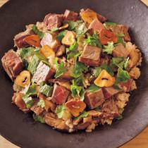 牛肉としいたけの混ぜご飯