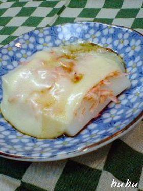 桜海老と山葵の軟らかチーズ餅