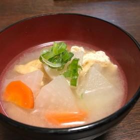 圧力鍋で加圧1分☆根菜の味噌汁