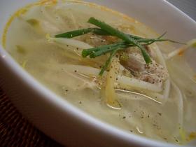 もやしとザーサイのスープ