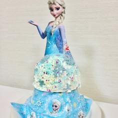 ♡迫力♡エルサのドールケーキ